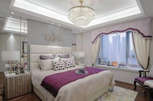 温馨简欧风格精美卧室飘窗设计装修效果图
