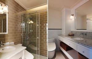简约美式风格温馨三室两厅室内装修效果图案例