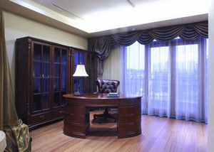 美式风格复古精致书房装修效果图赏析