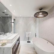 现代简约风格大户型白色卫生间装修效果图赏析