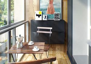 现代风格休闲文艺阳台设计装修效果图