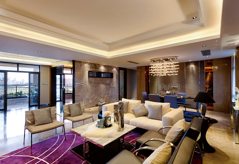 150平米现代奢华风格大户型室内装修效果图