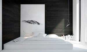 现代简约风格黑白色卧室背景墙装修效果图大全