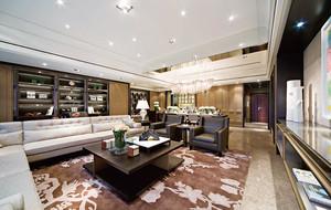 155平米低调奢华新中式风格大户型室内装修效果图案例