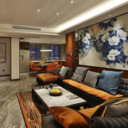 典雅中式风格客厅背景墙装修效果图赏析