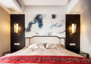 中式风格典雅精美卧室背景墙装修效果图案例