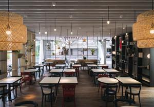 100平米后现代风格快餐店设计装修效果图赏析