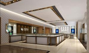 100平米现代风格精致珠宝店展柜设计装修效果图