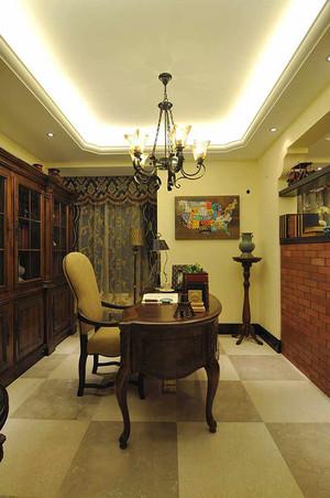 159平米复古美式风格大户型室内装修效果图赏析