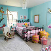 时尚清新风格色彩混搭儿童房装修效果图赏析