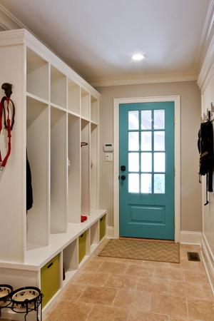 美式风格清新玄关鞋柜设计装修效果图赏析