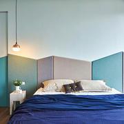 现代简约风格创意文艺卧室背景墙装修效果图赏析