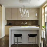 现代简约风格开放式厨房吧台设计装修效果图赏析
