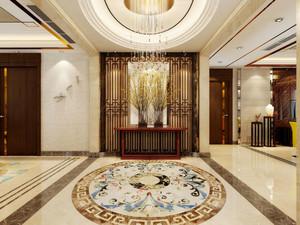 155平米精致新中式风格三室两厅装修效果图鉴赏