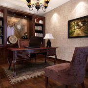 中式风格精致古典书房设计装修效果图