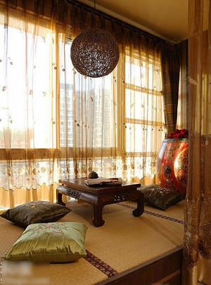 中式风格典雅阳台榻榻米装修效果图