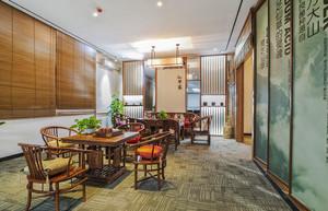 中式风格典雅茶楼设计装修效果图