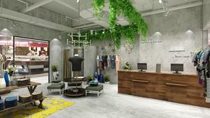 64平米简约风格服装店装修实景图