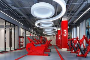 现代风格健身房吊顶设计装修效果图