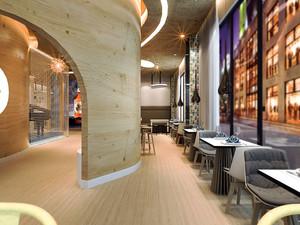 100平米现代风格精致咖啡厅装修效果图