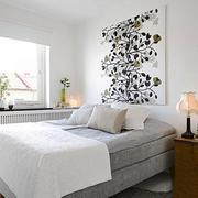 北欧风格自然浅色卧室装修效果图