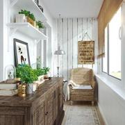 北欧风格朴素白色休闲阳台设计装修效果图赏析