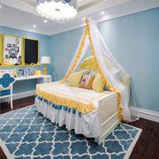 地中海风格温馨浅蓝色儿童房装修效果图赏析