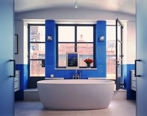 地中海风格蓝色别墅卫生间装修效果图赏析