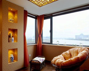 东南亚风格精致封闭式阳台装修效果图案例