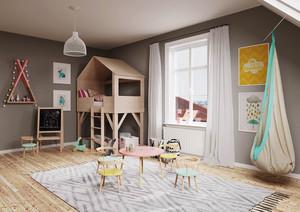 北欧风格简约创意儿童房设计装修效果图赏析