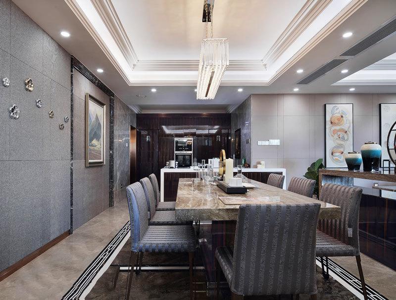 后现代风格大户型精致餐厅设计装修效果图赏析图片