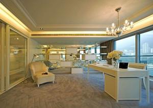 欧式风格别墅室内豪华书房设计装修效果图赏析