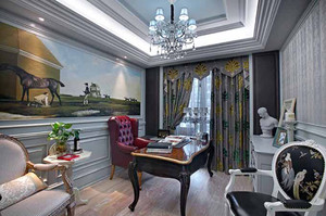 154平米欧式风格奢华典雅大户型装修效果图案例
