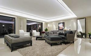 138平米现代风格精致三室两厅室内装修效果图赏析