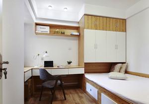 10平米现代简约风格榻榻米卧室装修效果图