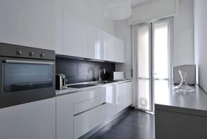 现代简约风格纯白精致厨房装修效果图赏析