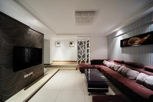 100平米现代简约风格时尚冷调公寓设计装修效果图