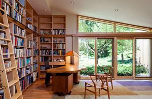 美式乡村风格自然别墅书房设计装修效果图