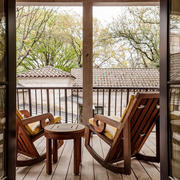中式风格古朴休闲阳台设计装修效果图赏析