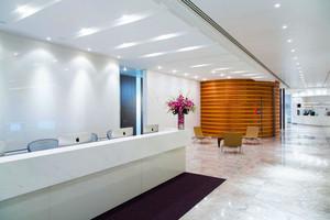 现代简约风格个性办公室前台设计装修效果图