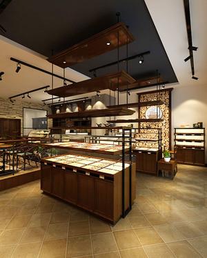 46平米后现代风格面包店设计装修效果图赏析