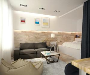 58平米现代简约风格精装单身公寓装修效果图赏析