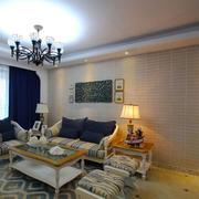 地中海风格温馨简约客厅装修效果图赏析