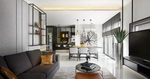 100平米后现代风格精致室内装修效果图案例