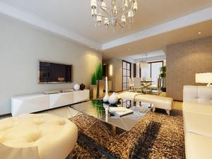 简欧风格精致温馨三室两厅室内装修效果图案例