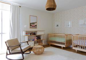 简欧风格温馨婴儿房设计装修效果图