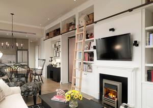 简约美式风格温馨精装两室两厅两卫装修效果图案例