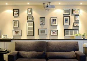 现代风格大户型精致客厅照片墙装修效果图