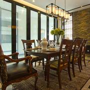 美式风格大户型精致餐厅装修效果图案例