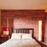 美式风格创意卧室背景墙装修效果图案例